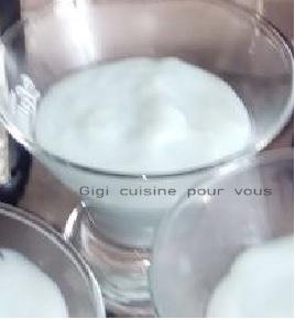 Recette crème à la liqueur de violette