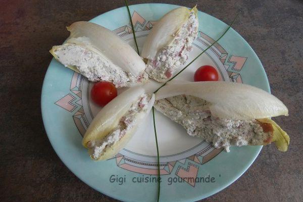 Recette Bouchées d'endives au jambon