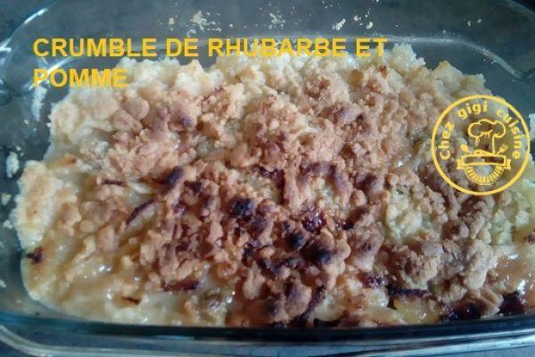 CRUMBLE DE RHUBARBE ET POMME A L'OMNICUISEUR