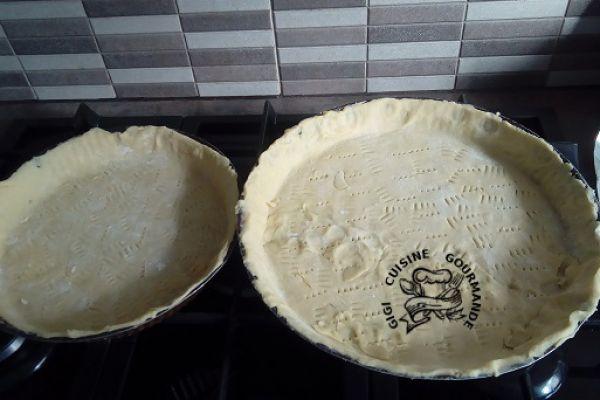 pâte brisée pour 2 tartes au thermomix (sans repos)