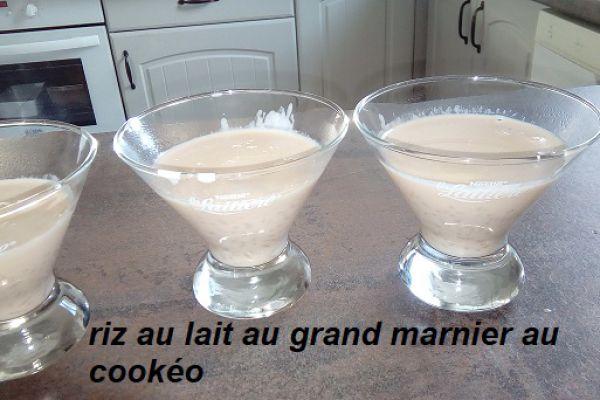 Recette riz au lait au grand marnier au cookéo