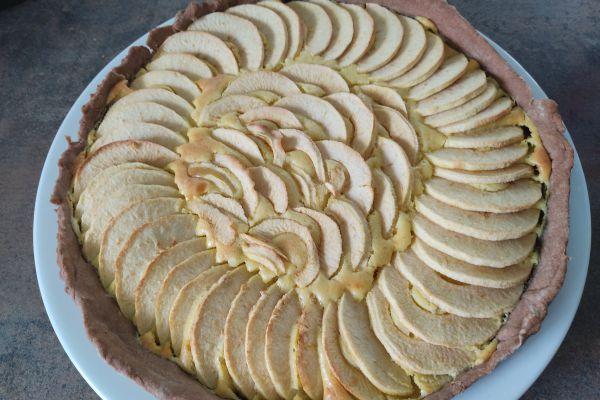 Recette Tarte cacaotée au mascarpone et pommes