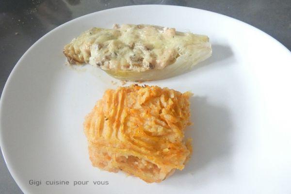 Recette Endives farcies aux champignons (cookéo, ccpro et cake factory)