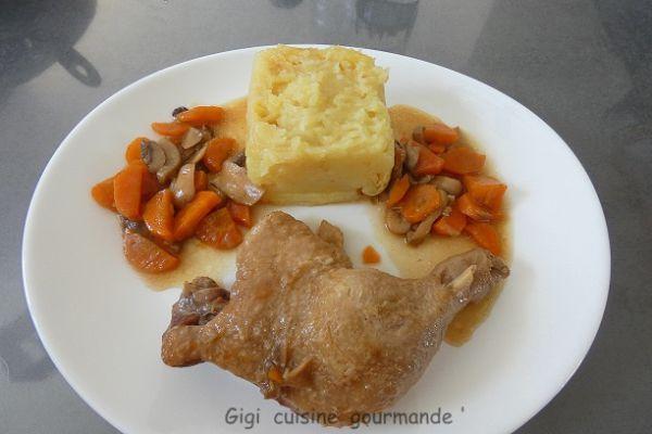 Recette Cuisse de canard au miel et carottes