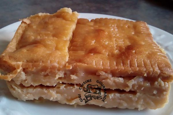 Recette Gâteau pudding aux petits beurre et pommes