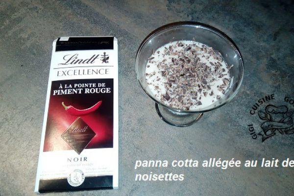 Recette Panna cotta allégée au lait de noisettes (thermomix)