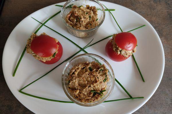 Recette Tomates farcies sardines et chèvre (compact cook pro)