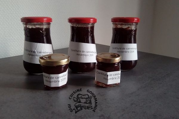 CONFITURE DE CANNEBERGES (cranberries)