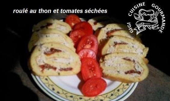 Recette Roule au thon et tomates sechees