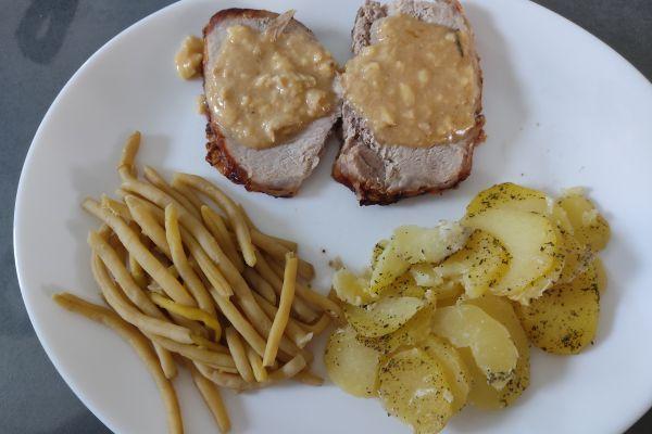 Recette Roti de porc à l'extra crisp et sa sauce camembert