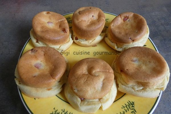 Recette Muffins kiri et dés de jambon