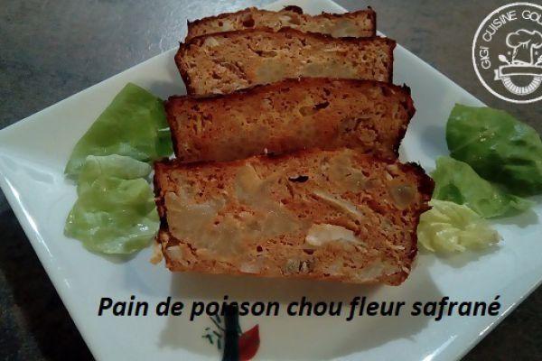 Recette PAIN DE POISSON ET CHOU FLEUR SAFRANE