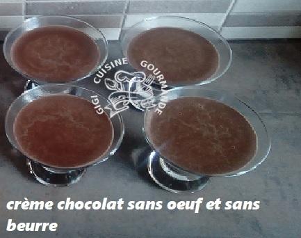 Recette Crème chocolat sans oeuf et sans beurre (thermomix)