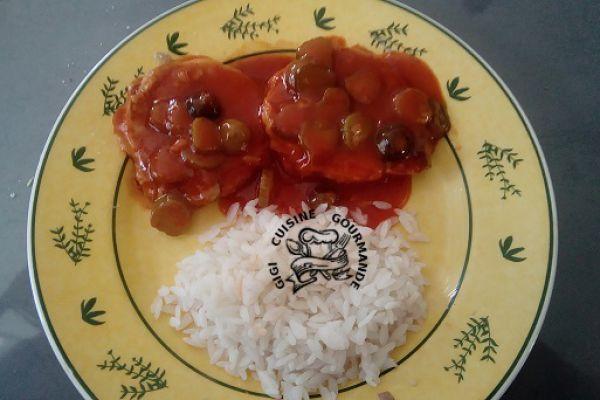 rôti de porc sauce charcutière