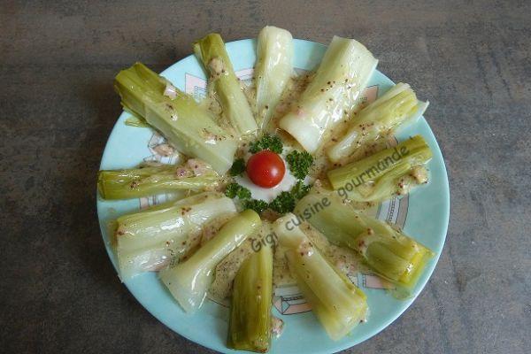 Recette Poireaux sauce moutardée