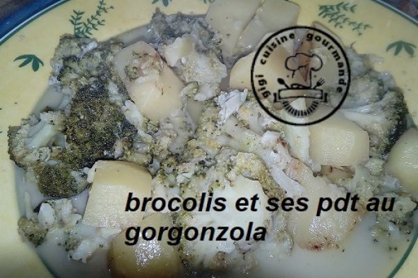 Recette BROCOLIS, PDT au gorgonzola au cookéo