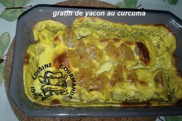 gratin de yacon ou poires de terre (cookéo)