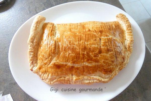 Feuilleté jambon fromage au cake factory