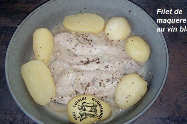 Recette Filet de maquereaux au vin blanc (cookéo)