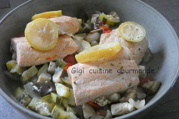 Recette Saumon et ses légumes en papillotte