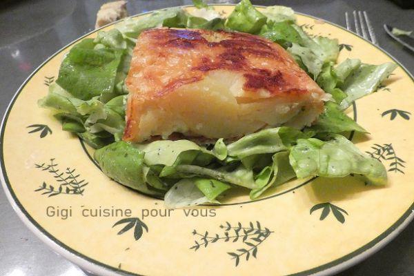 Recette Tatin pommes de terre et Cantal avec le cake factory