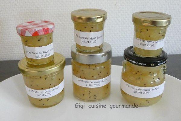 """Recette Confiture de kiwis """"gold"""" au compact cook"""