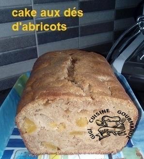 CAKE AUX ABRICOTS à la vergeoise et poudre d'amandes (thermomix