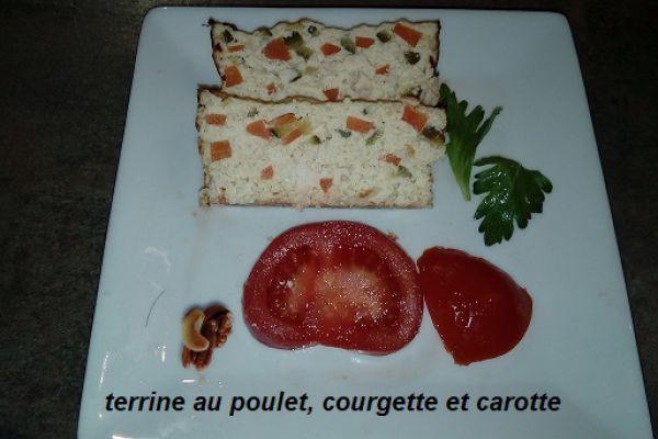 Recette Terrine au poulet, courgette et carotte