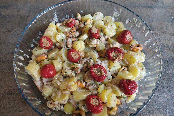 Moules et ratte du Touquet en salade