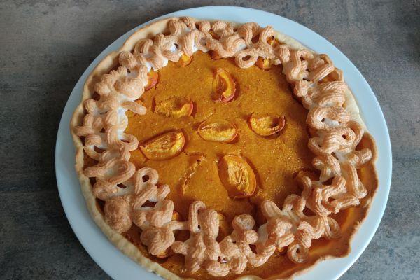 Recette Tarte meringuée à l'abricot (compact cook pro)