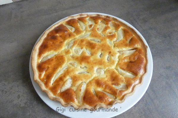 Recette Tarte aux poires (sans sucre ajouté)
