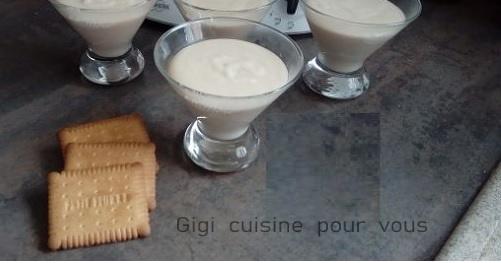 Recette Crème aux petits beurres sans sucre avec le cc pro