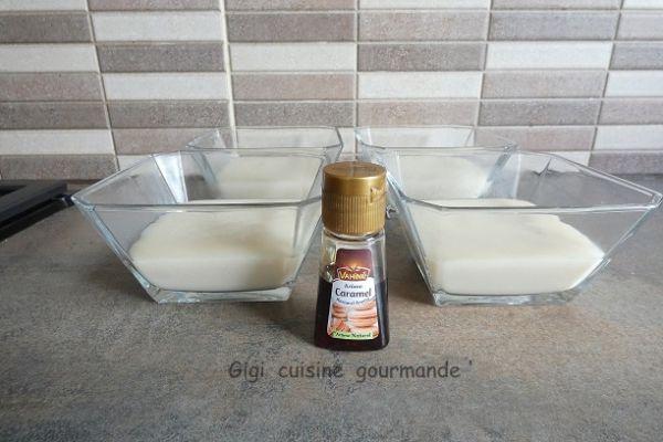 Crème dessert soja et caramel au compact cook
