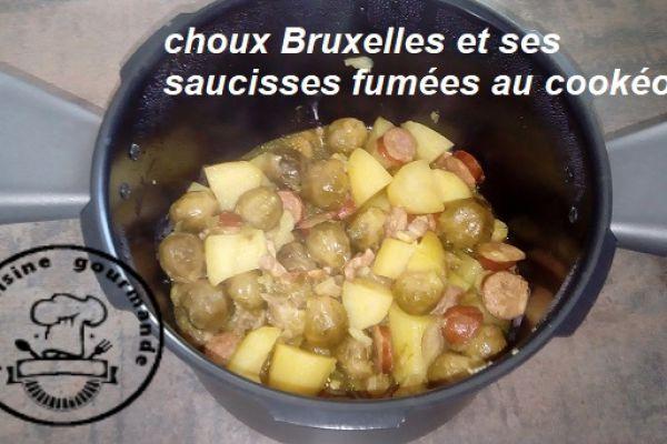 Recette CHOUX Bruxelles et ses saucisses fumées