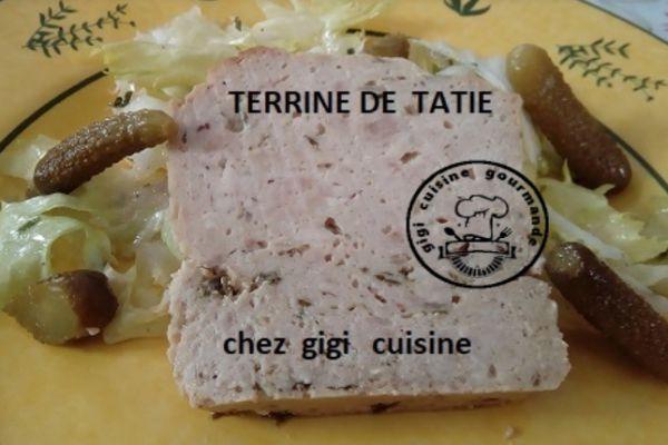 Recette TERRINE DE TATIE