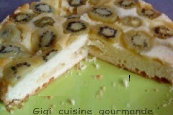 Recette Gâteau renversé aux kiwis