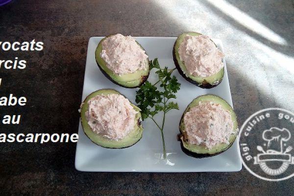 Recette Avocat farci au crabe et mascarpone