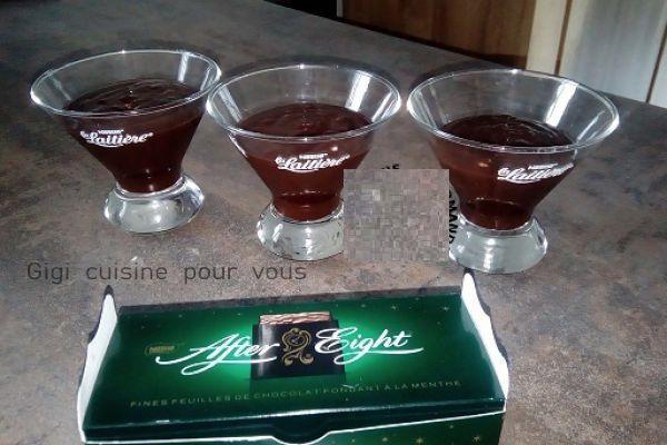 Recette Crème dessert à l'after eight