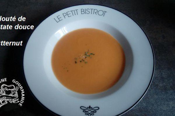 Recette velouté de patate douce et butternut (thermomix)