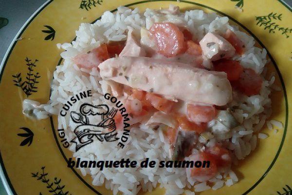 Recette Blanquette de saumon au cookéo