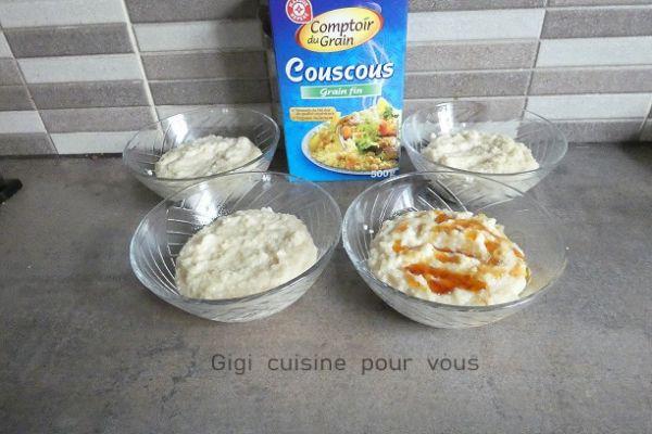 Recette Semoule de couscous au lait et au compact cook pro