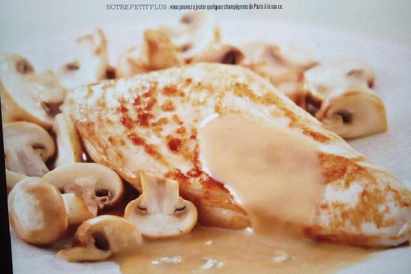 Recette Escalope de poulet à la crème de gruyère