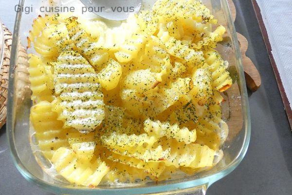 Recette Ondulés de pommes de terre à la dauphinoise