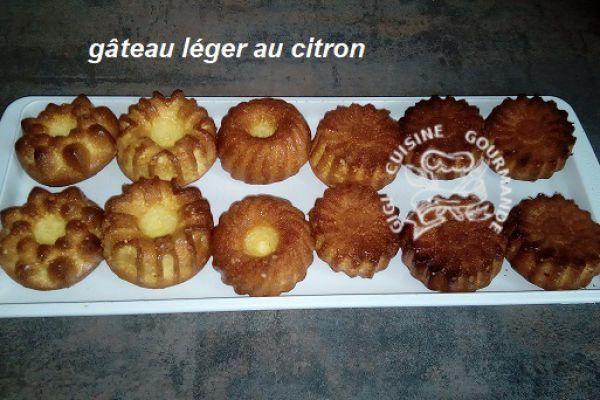 Recette gâteaux légers au citron