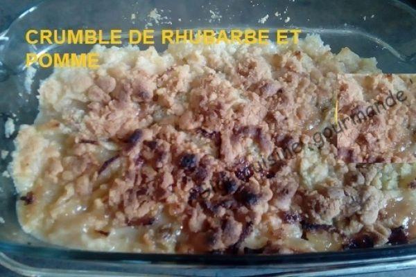 Recette Crumble de rhubarbe et pomme