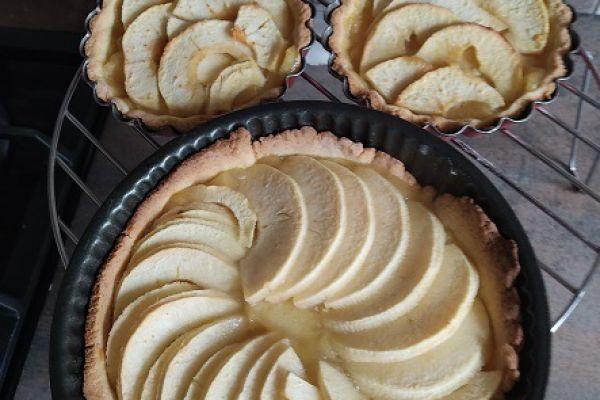 Recette Tartelettes sablées poudre amande et pommes au cake factory