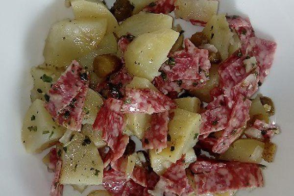 Recette salade de pommes de terre et salami (cookéo)