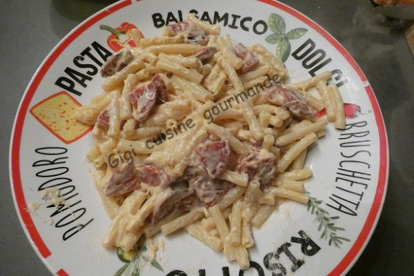 Recette Macaronis au chorizo