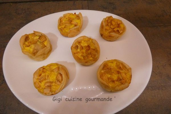 Mini tartelettes aux pommes au cake factory