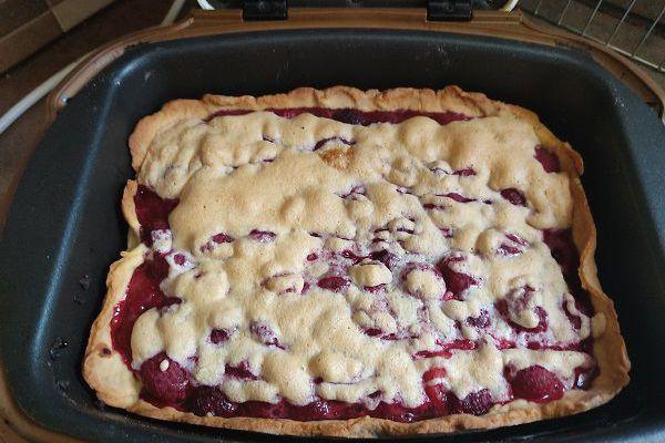 Recette Tarte sablée framboises meringuées au cake factory